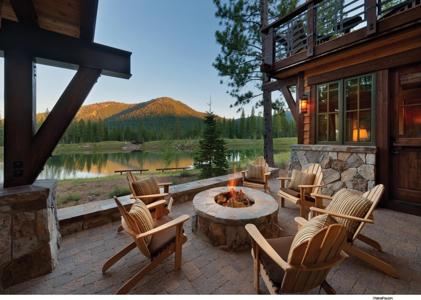 Exterior Mountain House Plan Outdoor Living