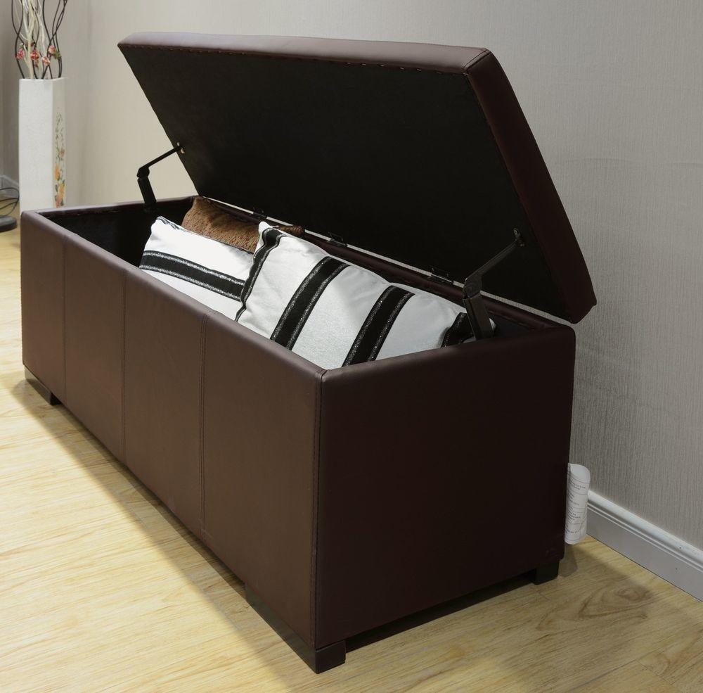 Extra Large Storage Ottoman Living Room Bench Bedroom
