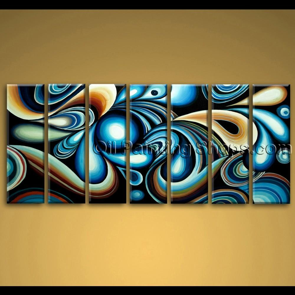 Extra Large Wall Art Colorful Abstract Oil Painting