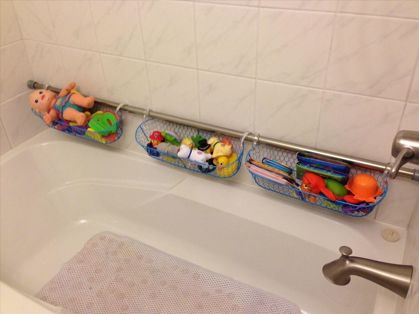 Extra Shower Curtain Rods Increase Bathroom Storage