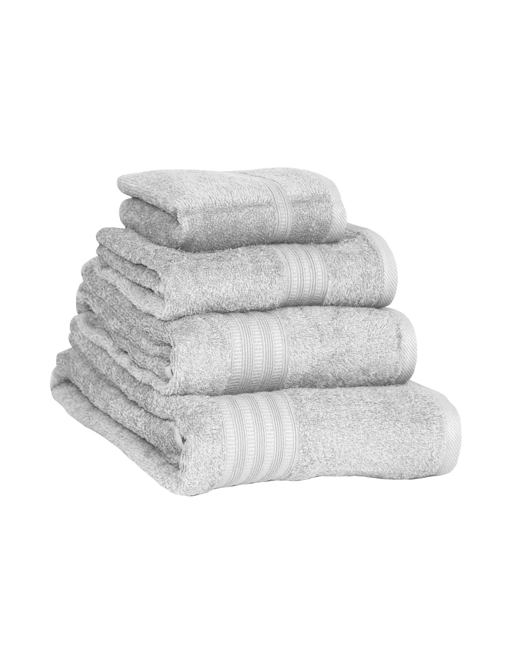 Extra Soft 100 Cotton Towels Grey Ponden Home