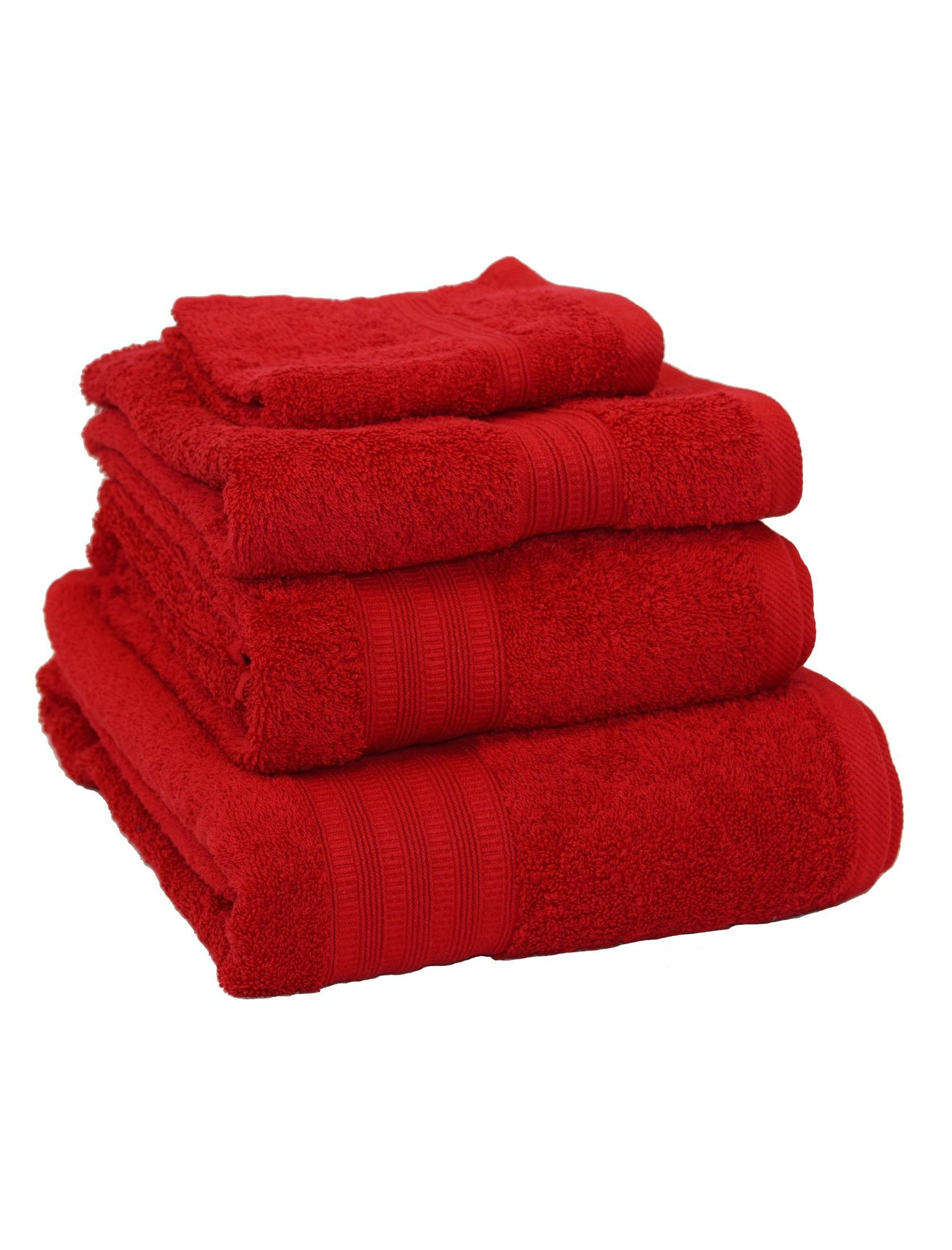 Extra Soft 100 Cotton Towels Red Ponden Home