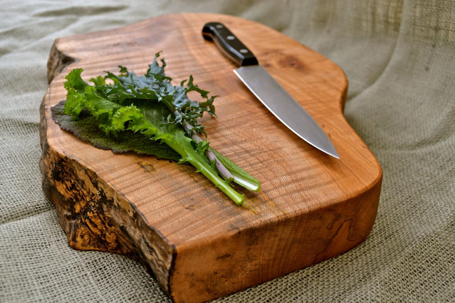 Extra Thick Natural Edge Wooden Cutting Board