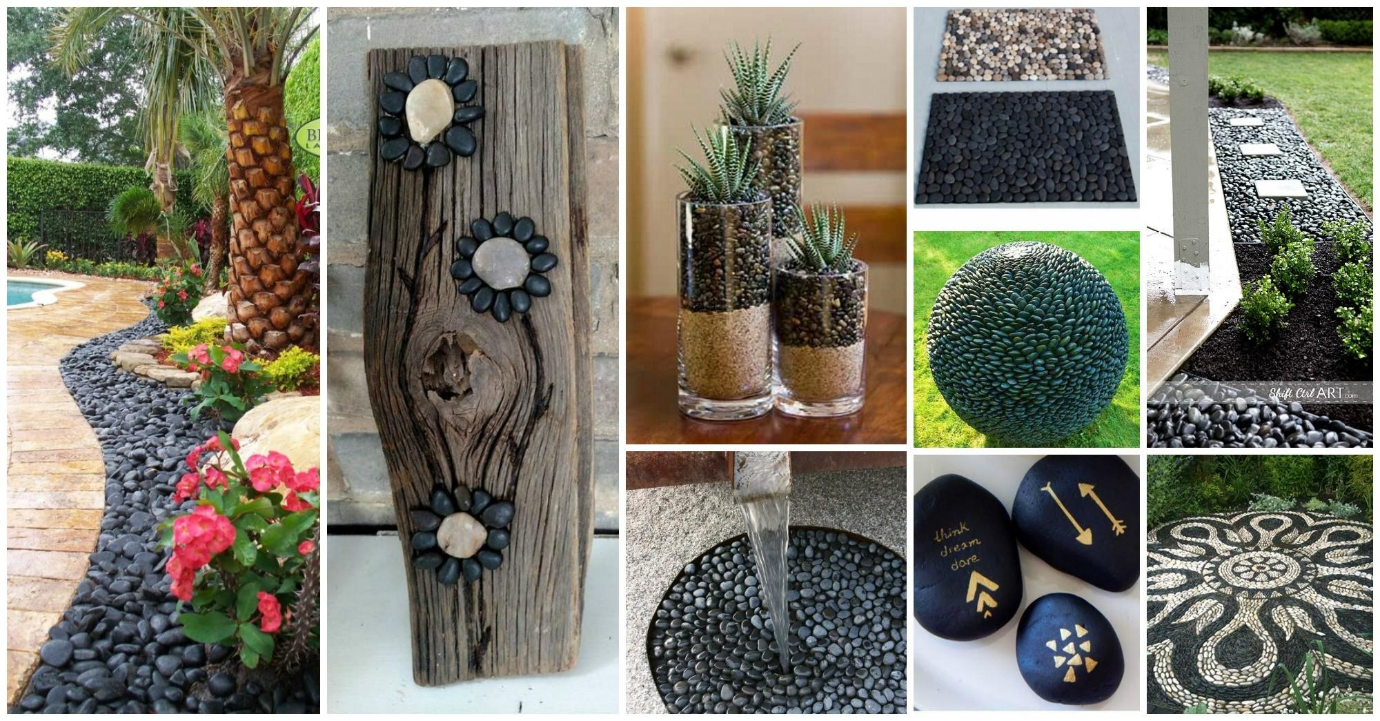 Extraordinary Black Pebbles Decor Ideas