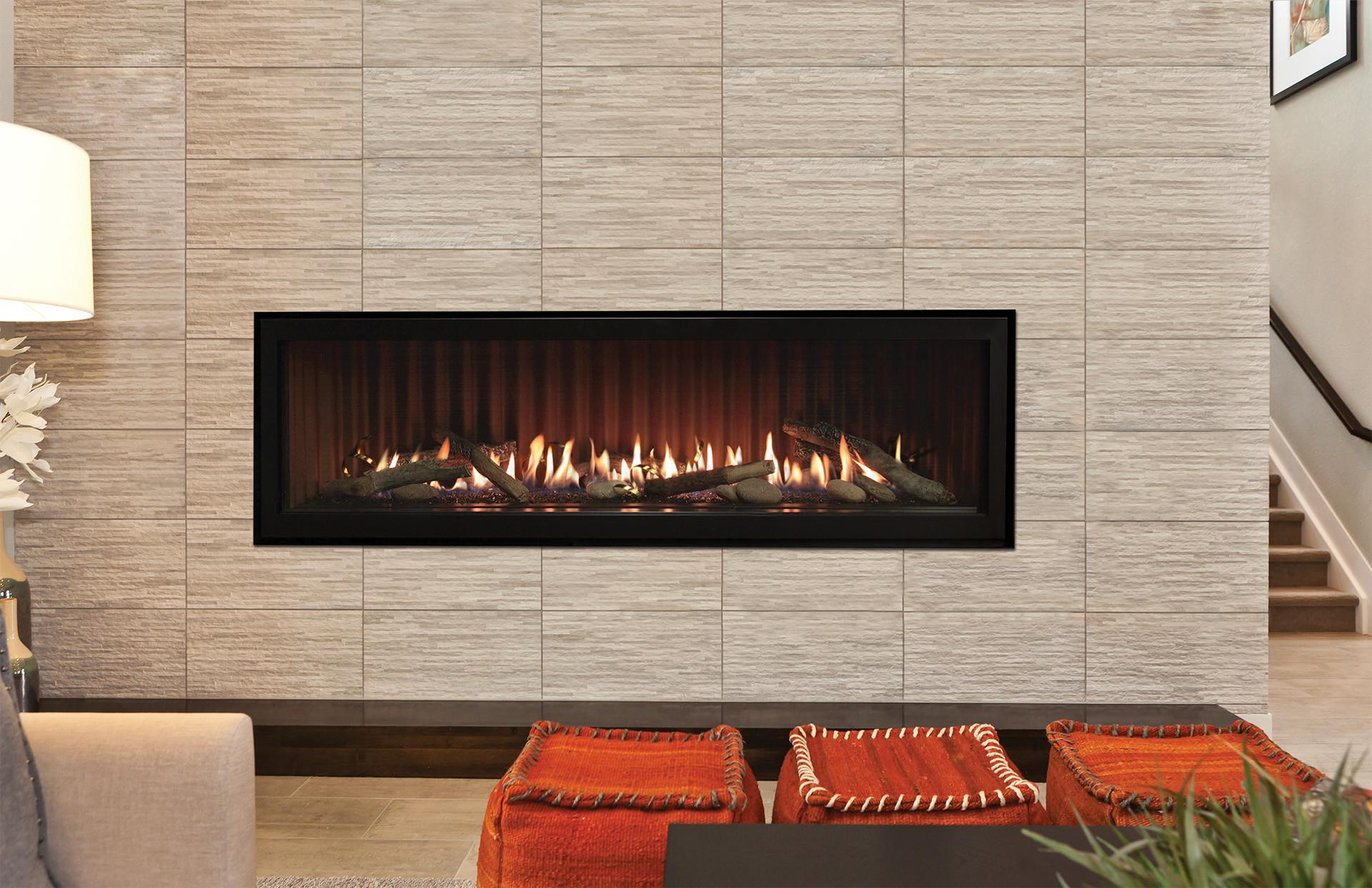 Extraordinary Linear Gas Fireplace Together Home