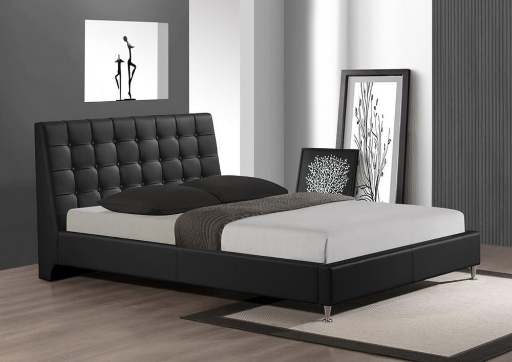Extravagant Leather Platform Headboard Bed Milwaukee