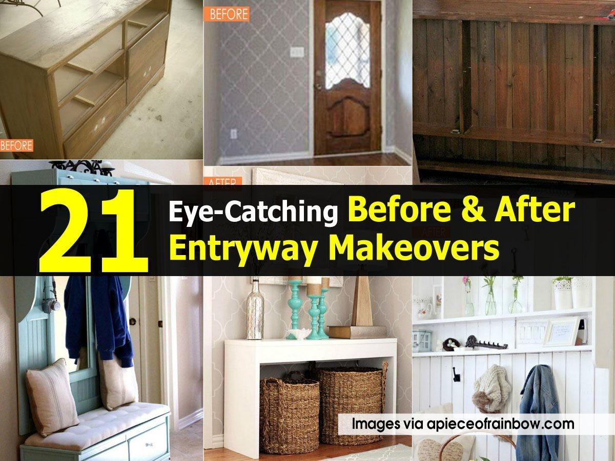 Eye Catching Before After Entryway Makeovers