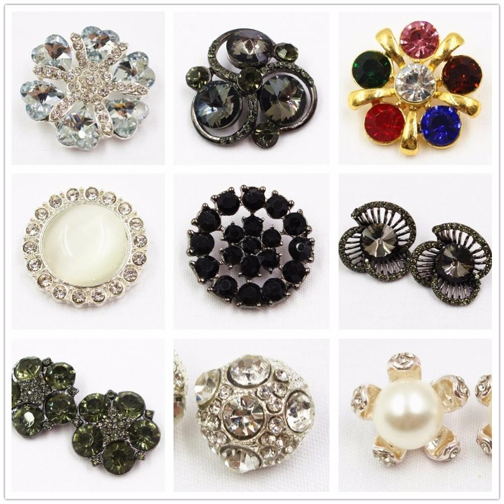 F1 Pcs Acrylic Metal Buttons Button Jewelry