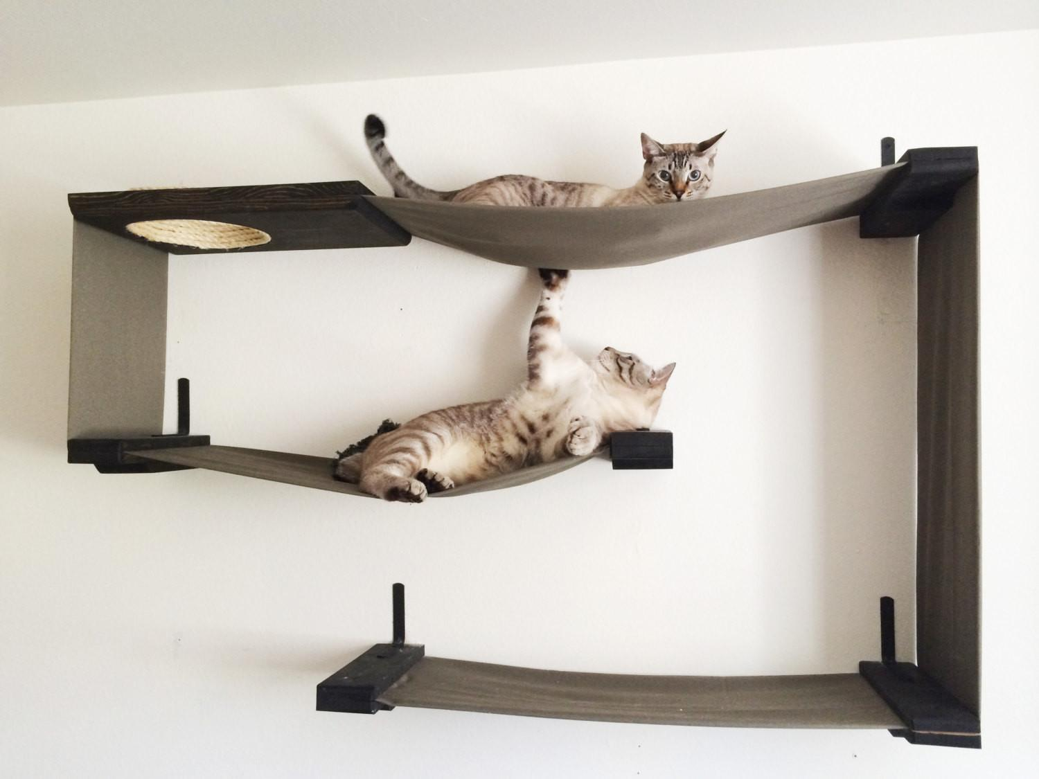 Fabric Cat Maze Hammock Shelves Catastrophicreations