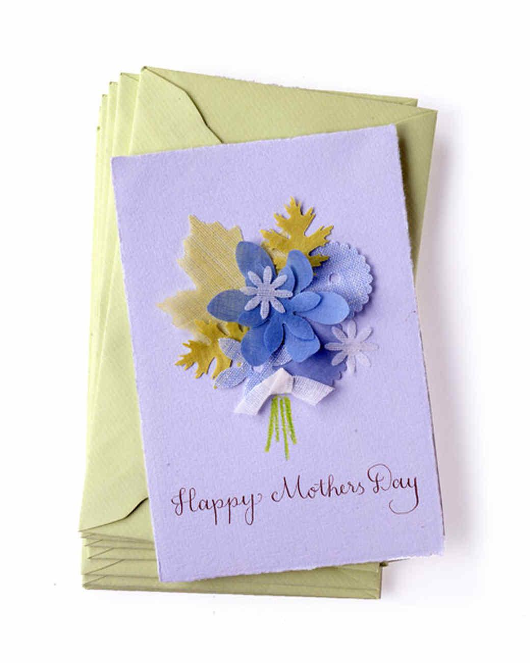 Fabric Punched Mother Day Card Martha Stewart