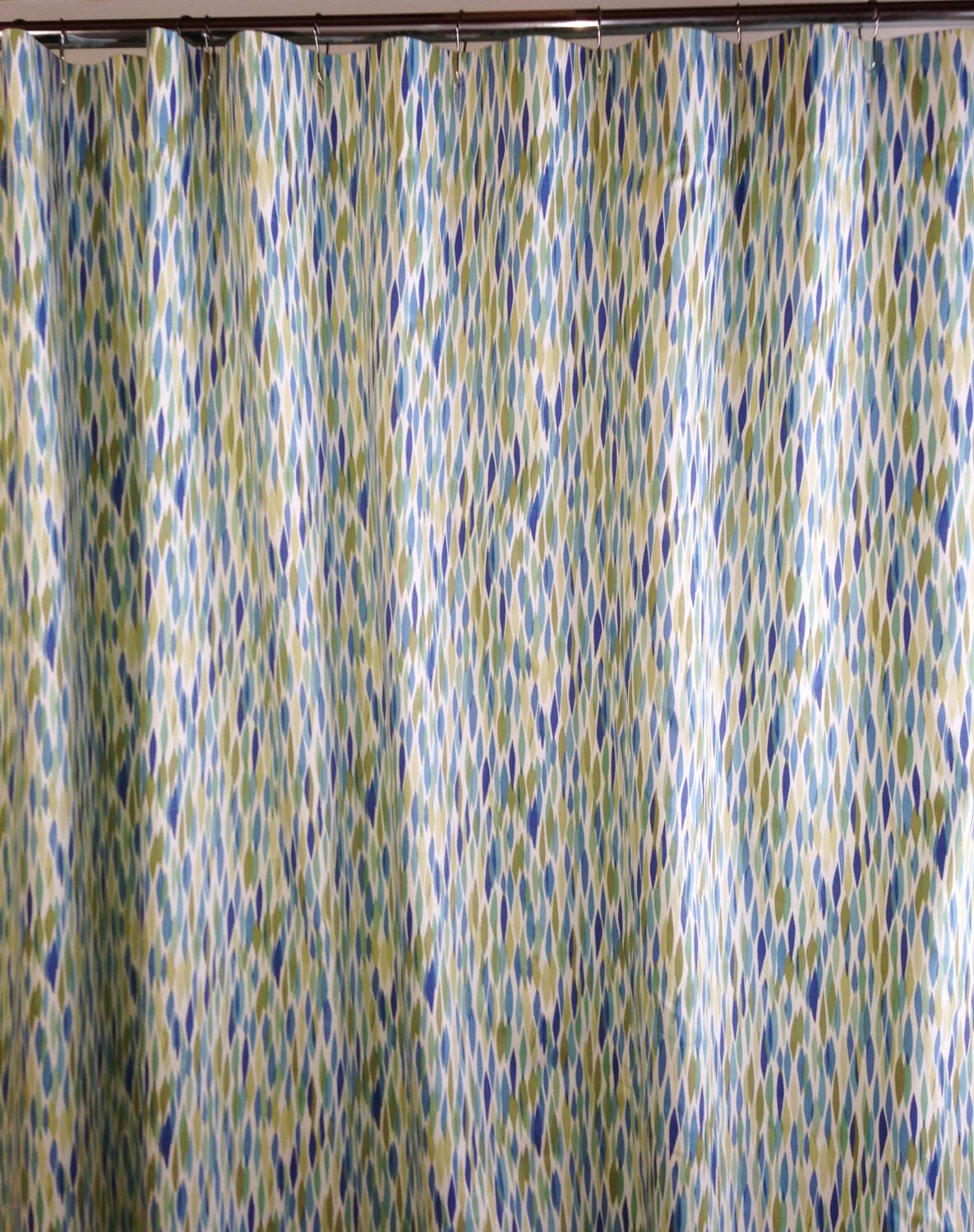 Fabric Shower Curtain Custom High End Waverly Bits Pieces