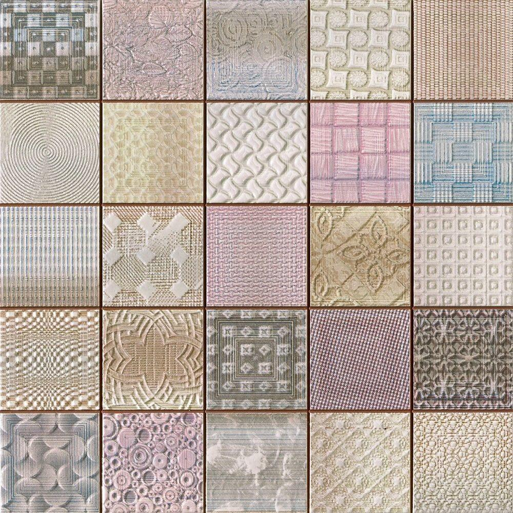 Fabric Tiles Patchwork Mosaic Effect X9mm
