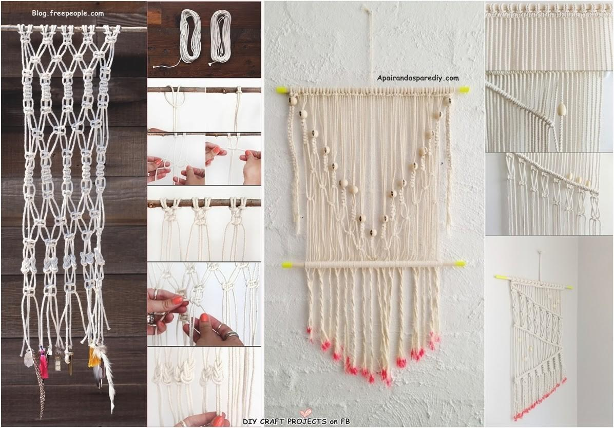 Fabulous Diy Macrame Wall Hanging Craft Projects