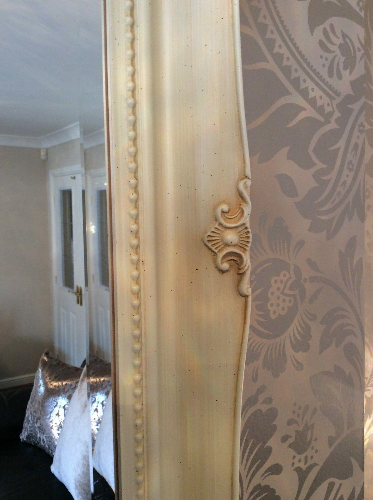 Fabulous Large Cream Decorative Stunning Shabby Chic Wall