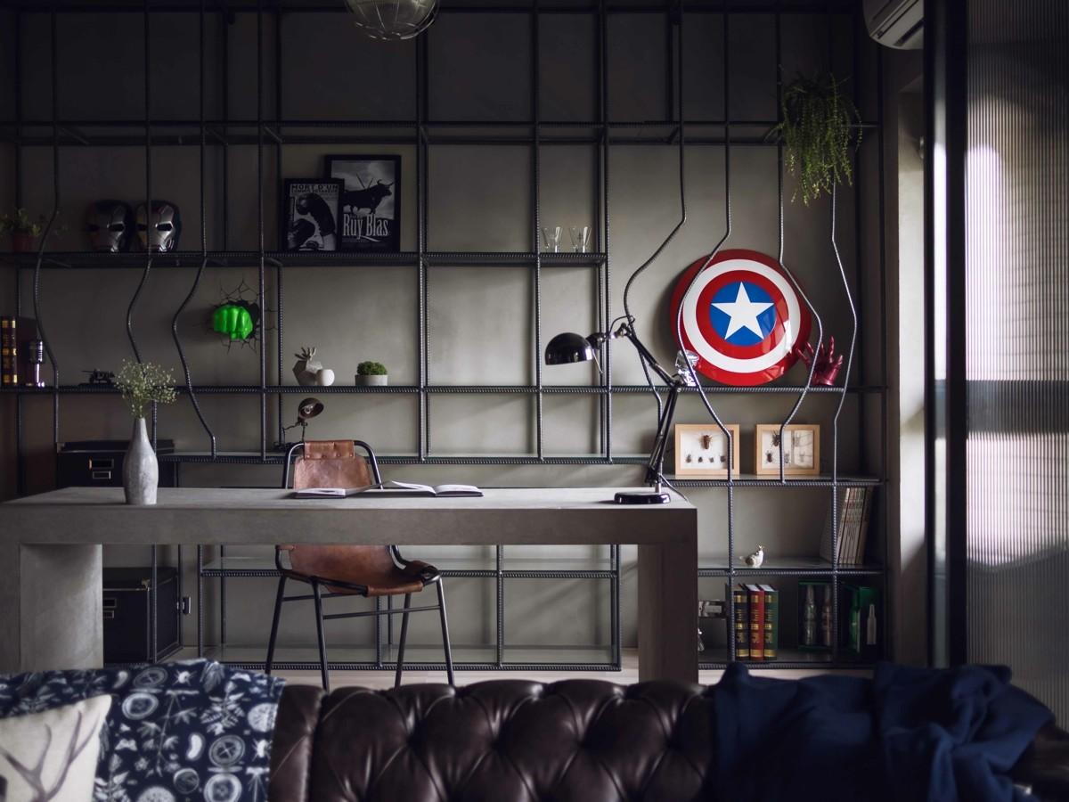 Fabulous Marvel Heroes Themed House Cement Finish