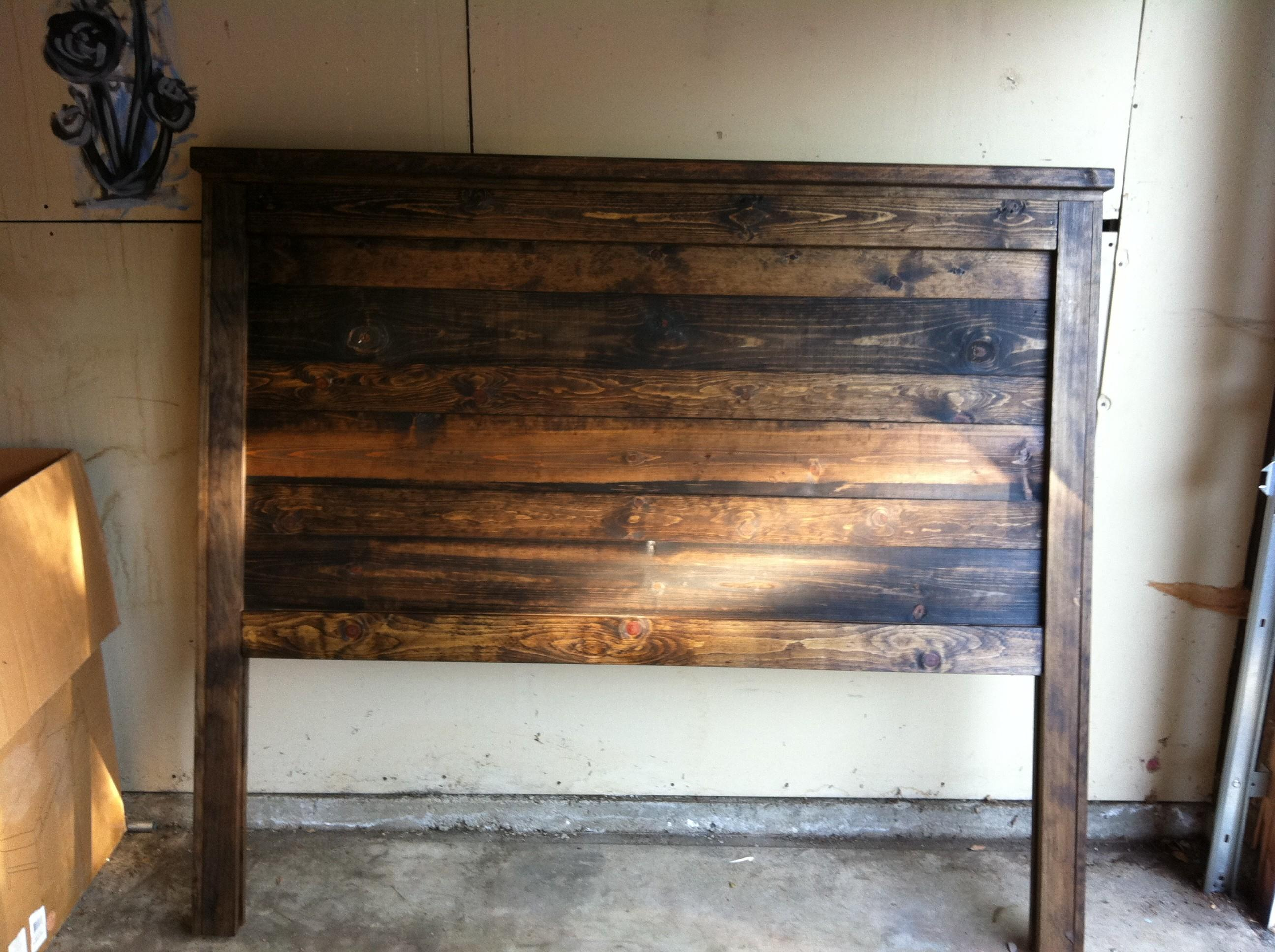 Fabulous Reclaimed Wood Headboard Queen Bedroom Nice