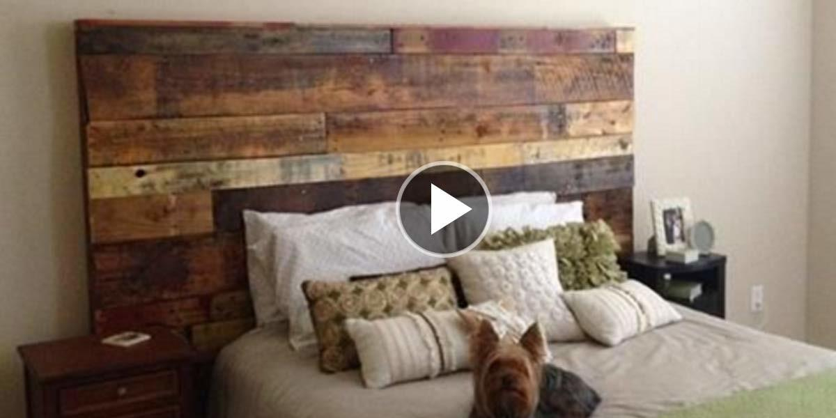 Fabulous Rustic Headboard Made Out Pallets