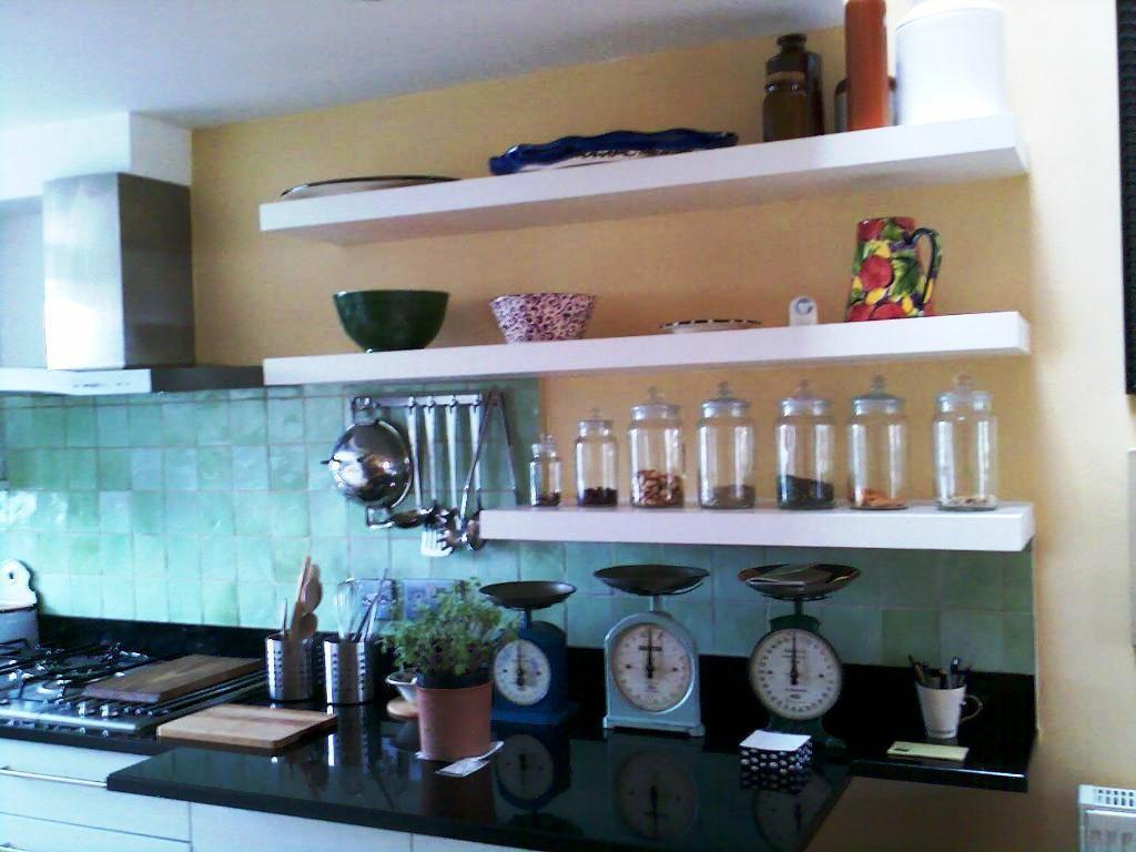Fabulous Stainless Steel Wall Shelves Kitchen