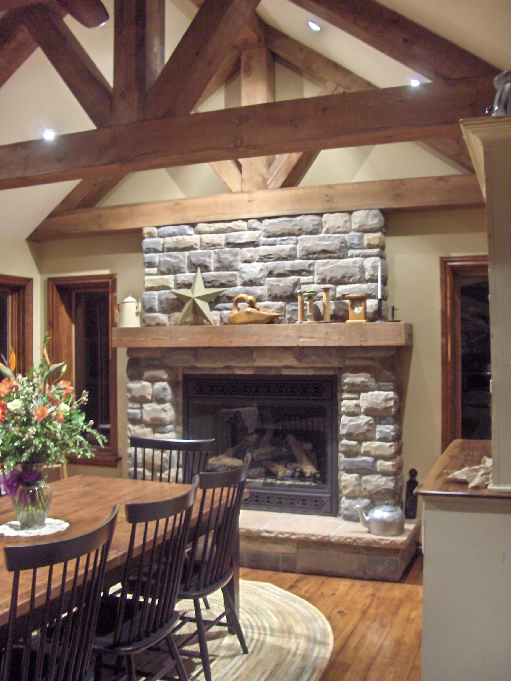 Fabulous Stone Fireplace Design Small Dining Room Ideas