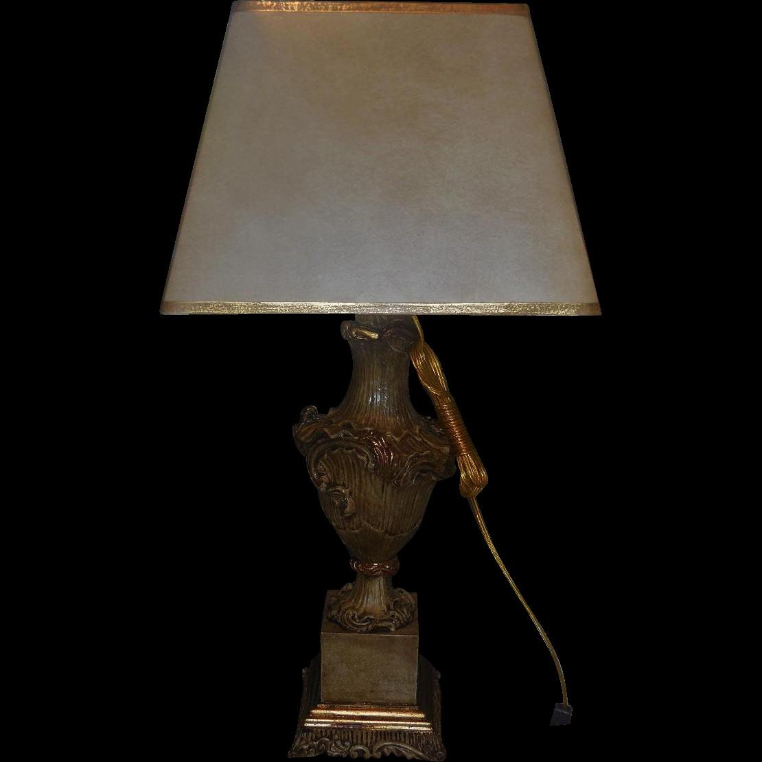 Fabulous Venetian Style Designer Table Lamp Custom Shade