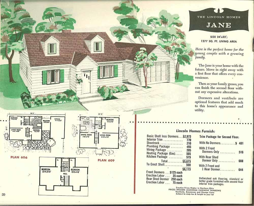 Factory Built Houses Pages Lincoln Homes 1955