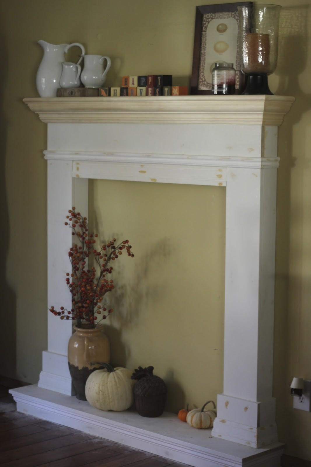 Fake Fireplace Mantel Decor