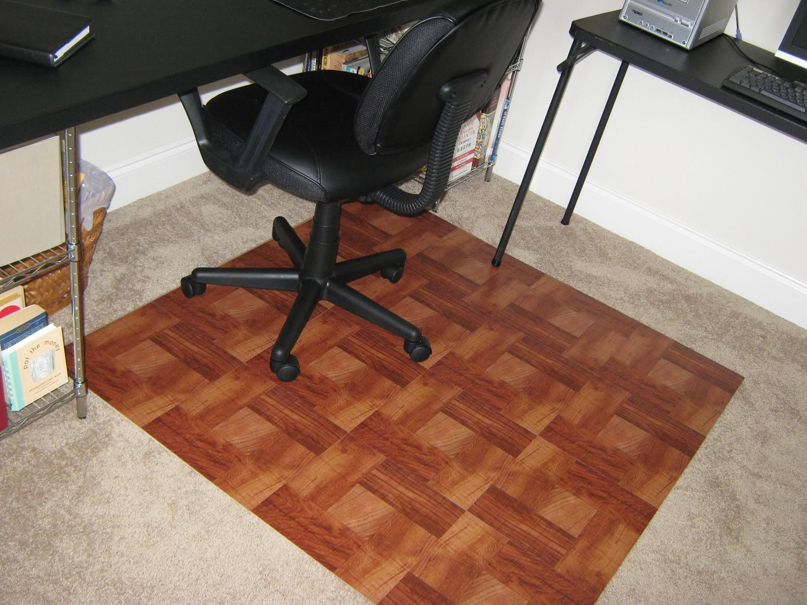 Fake Frugal Diy Wooden Office Chair Mat