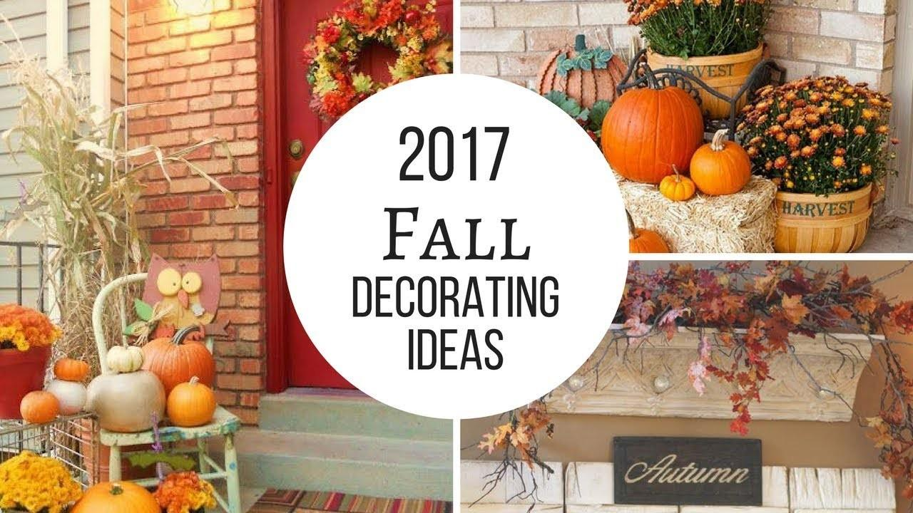 Fall 2017 Home Decorating Trends Ideas