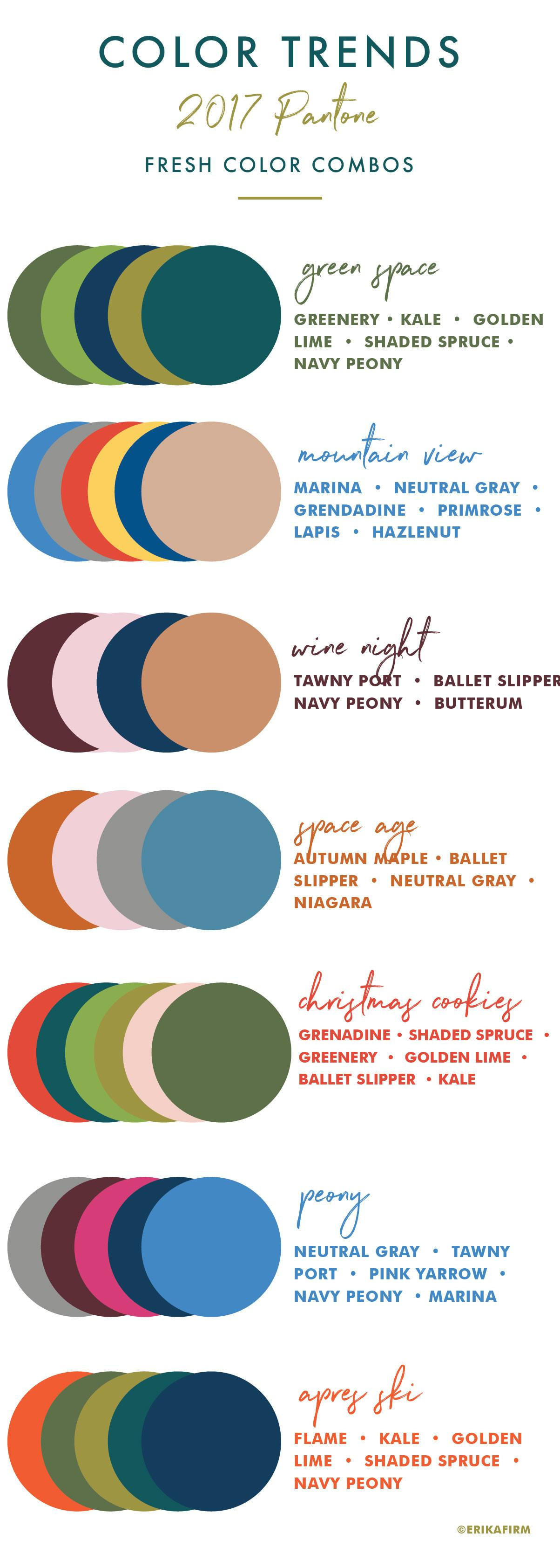 Fall 2017 Pantone Colors Chart Erika Firm