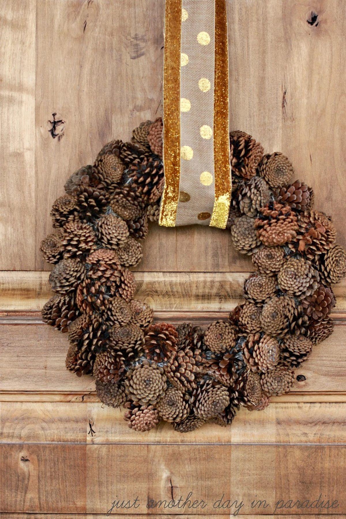 Fall Accents Incorporate Into Your Welcome Wreath
