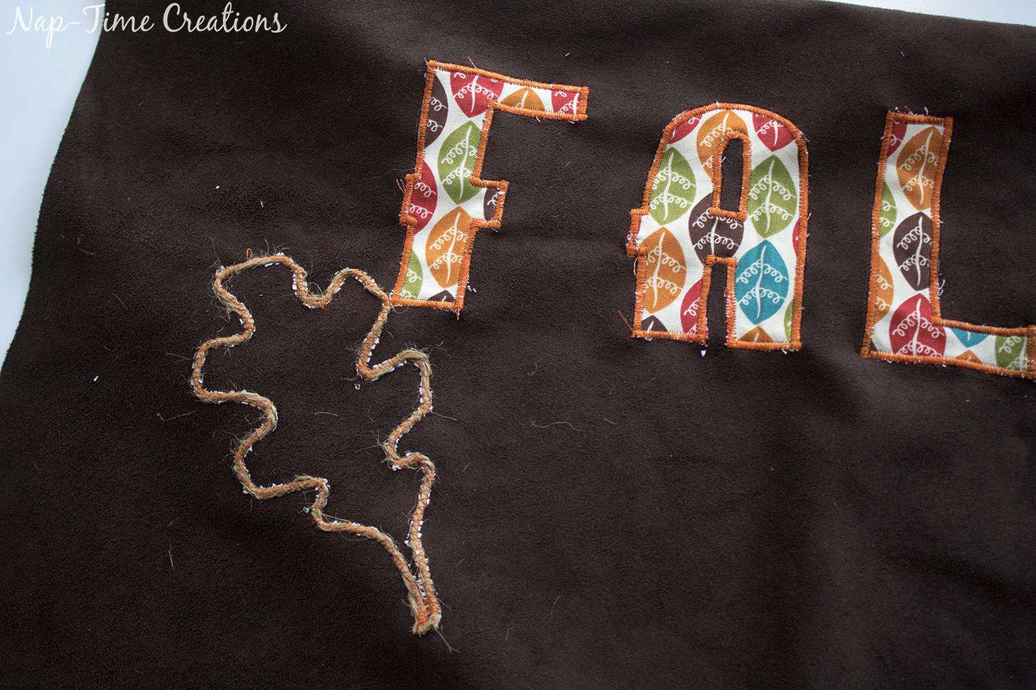 Fall Applique Pillow Tutorial Life Sew Savory