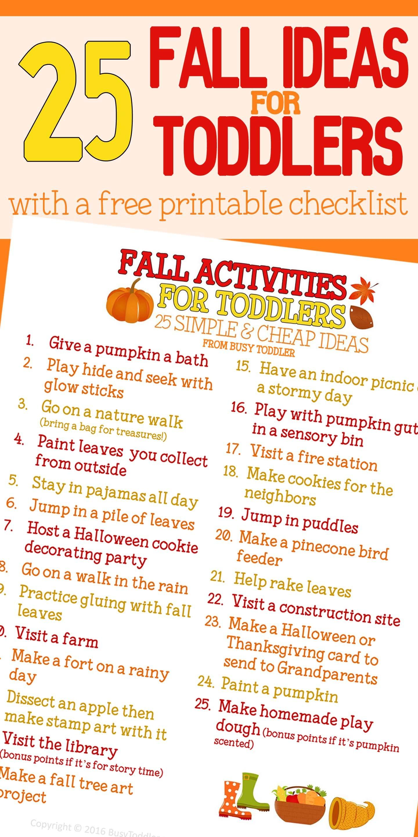 Fall Bucket List Toddlers Busy Toddler