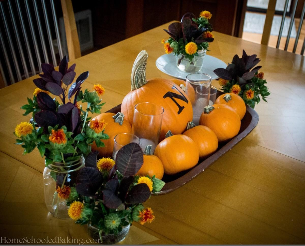 Fall Centerpiece Home Schooled Baking