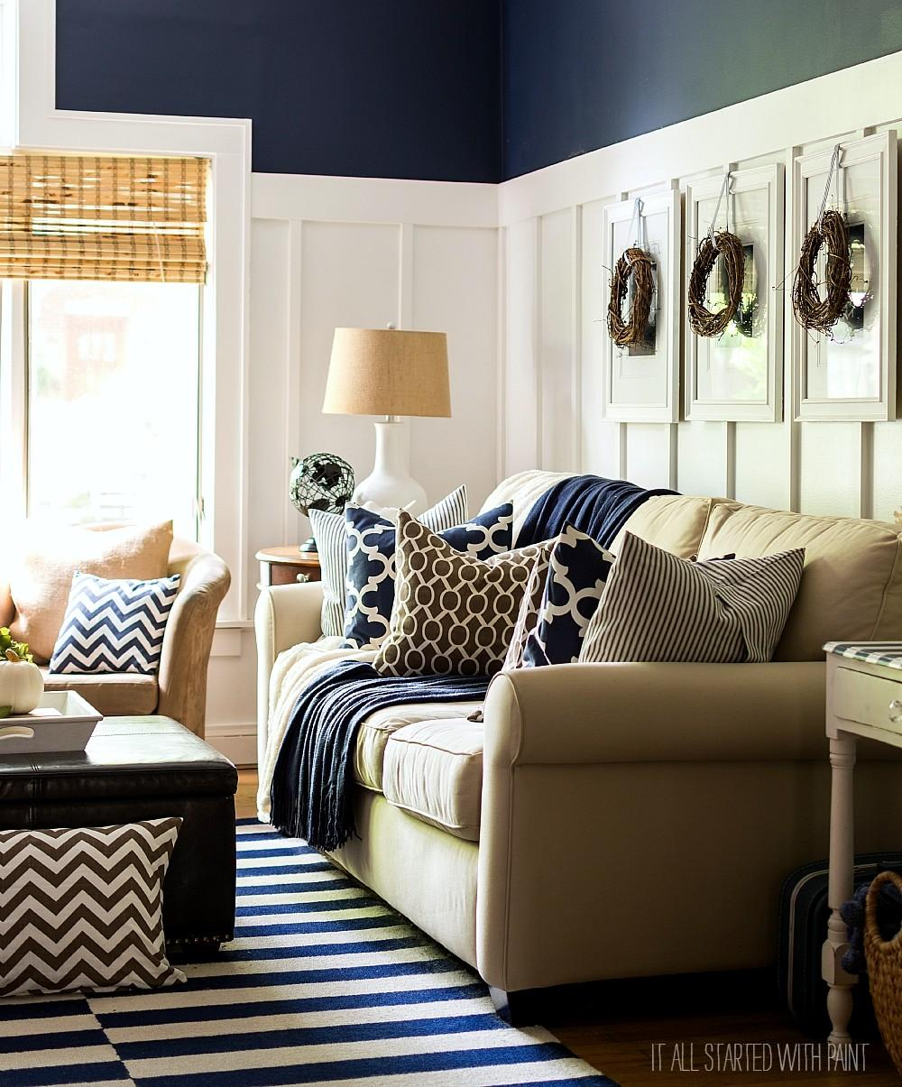 Fall Decor Navy Blue