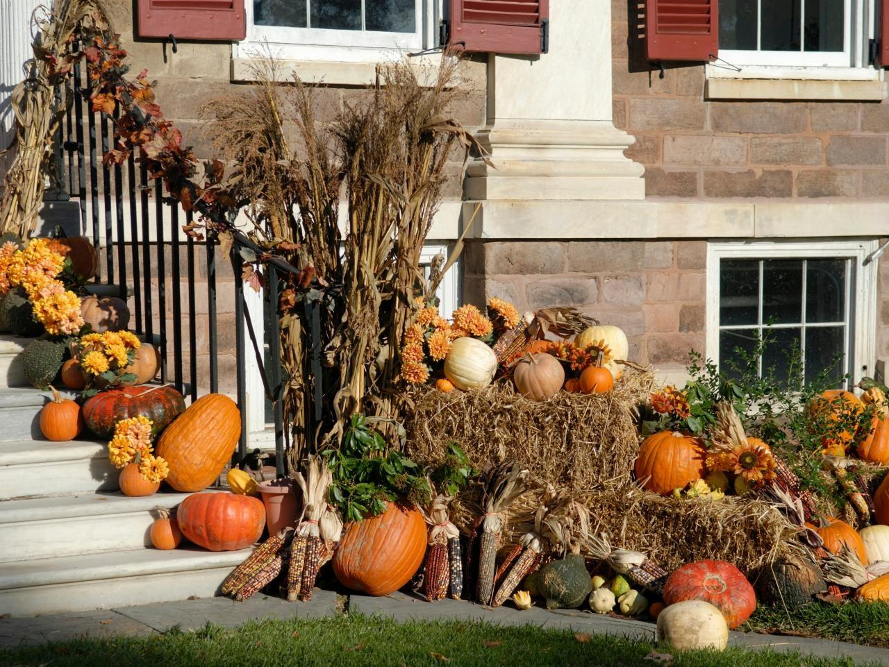 Fall Decorating Front Yard Diy Landscaping