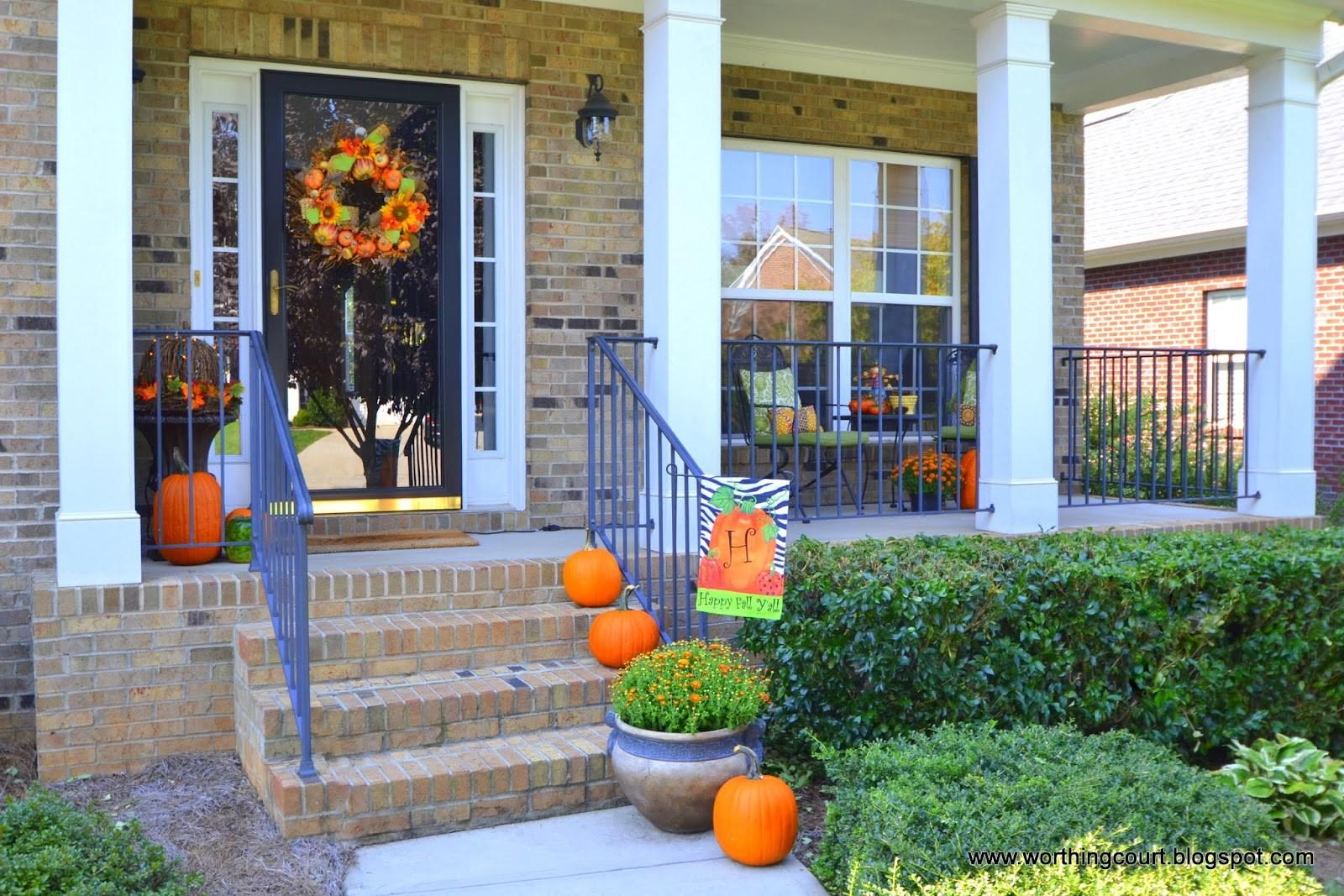 Fall Decorations Front Porch Worthing Court