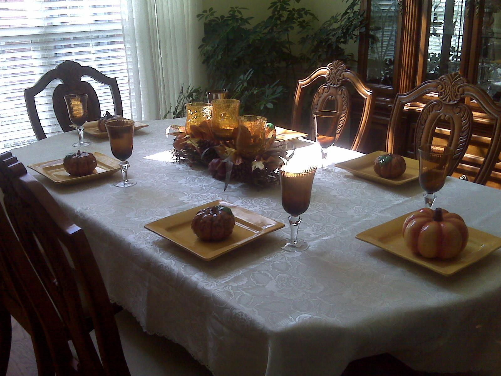 Fall Dining Table Decor Photograph Mom Room