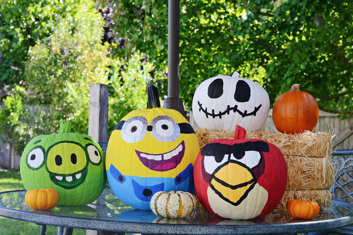 Fall Fun Painting Pumpkins