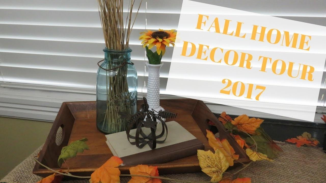 Fall Home Decor Tour 2017 Thrifted Rustic Natural