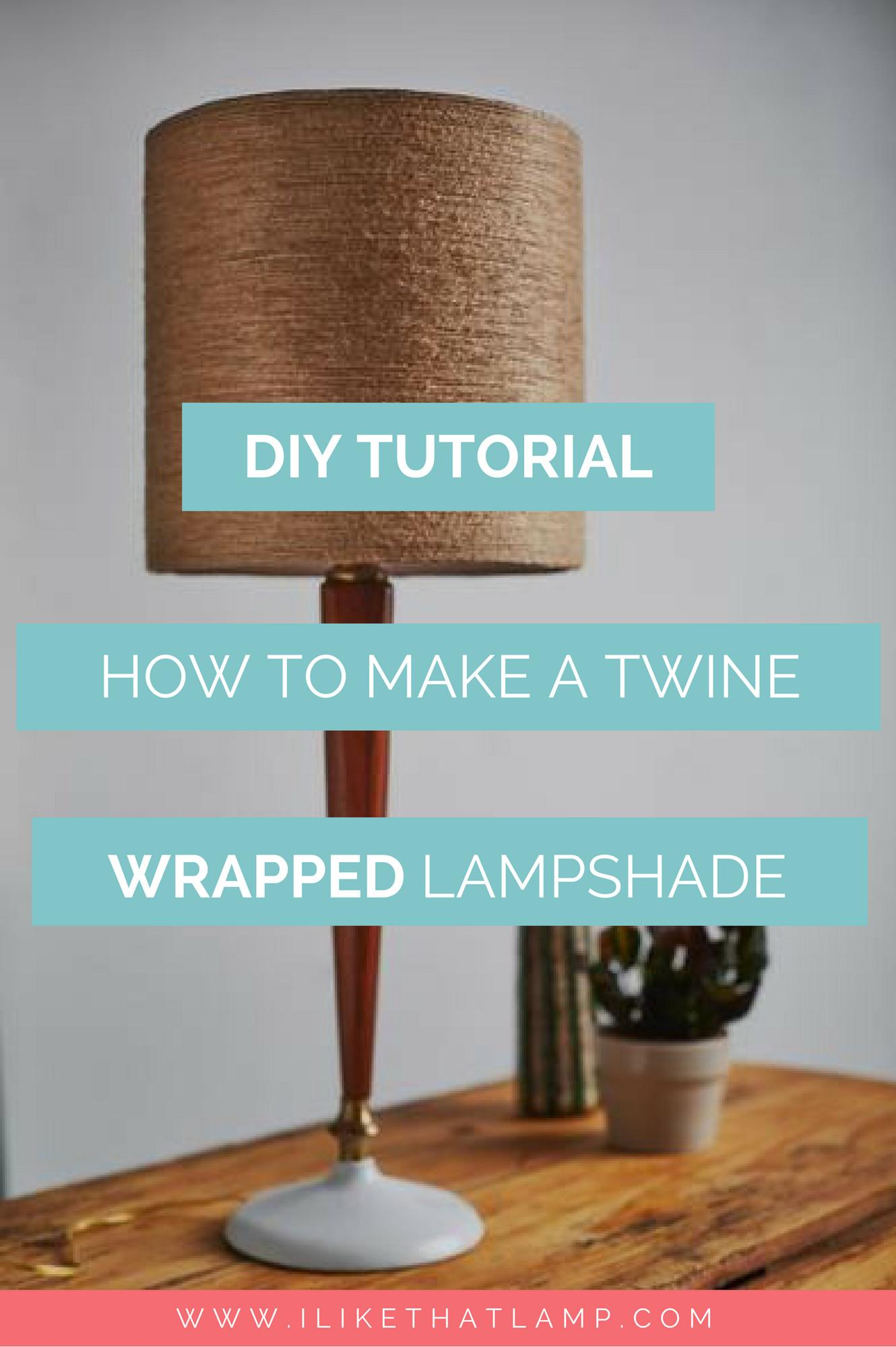 Fall Inspired Jute Twine Wrapped Diy Lampshade Like