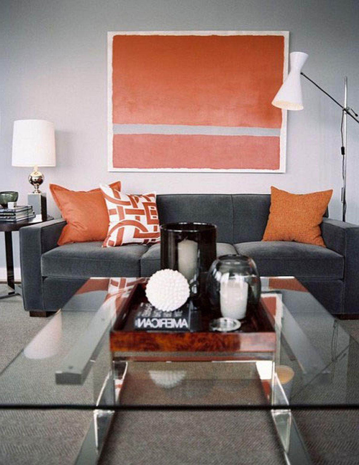 Fall Into Orange Living Room Accents All Styles