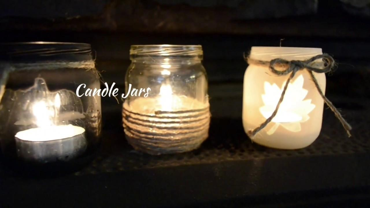 Fall Jars Candles Diy Crafts Projects