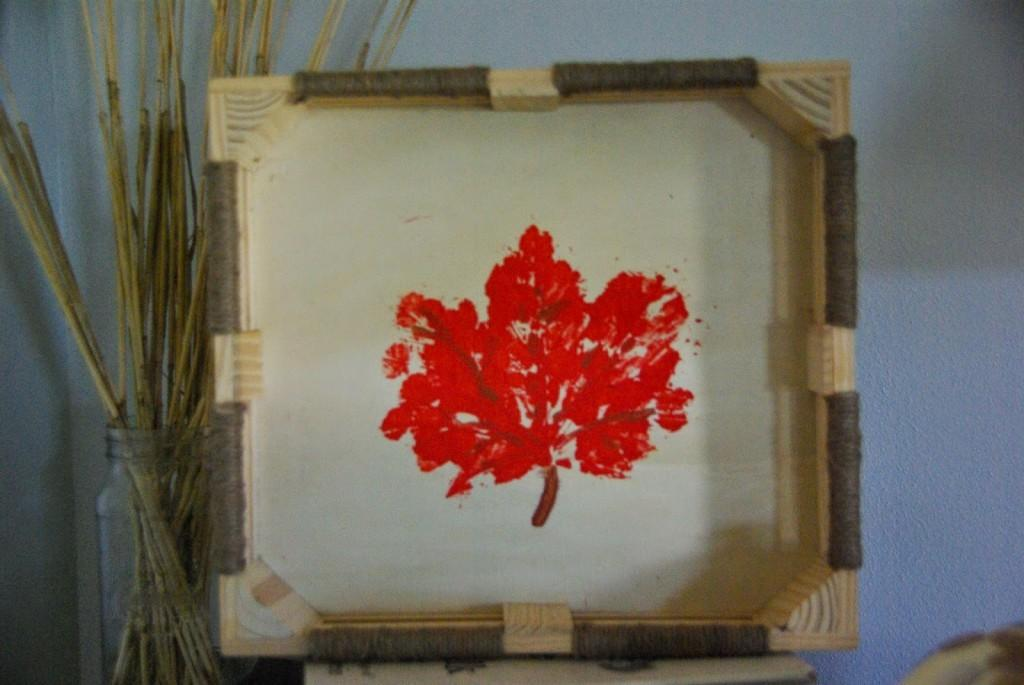 Fall Leaf Decor Diy Painted Wood Box Our House Now Home