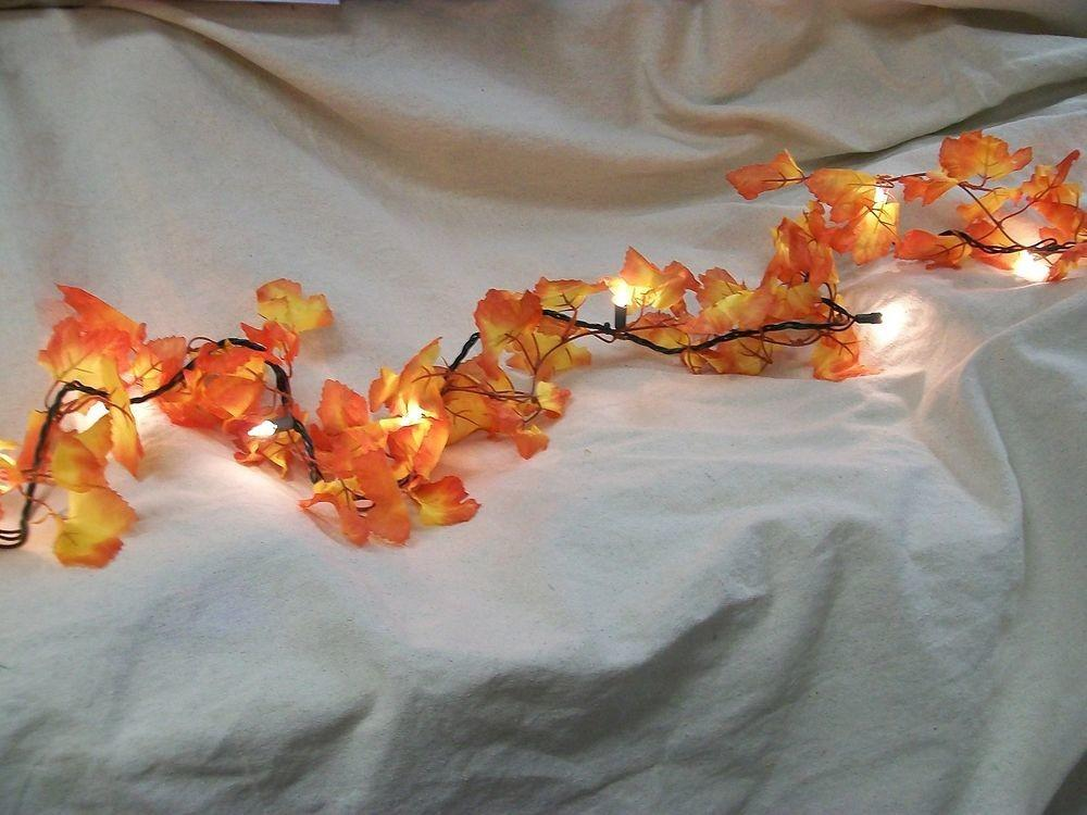 Fall Leaves Light String Set Autumn Leaf Garland Harvest