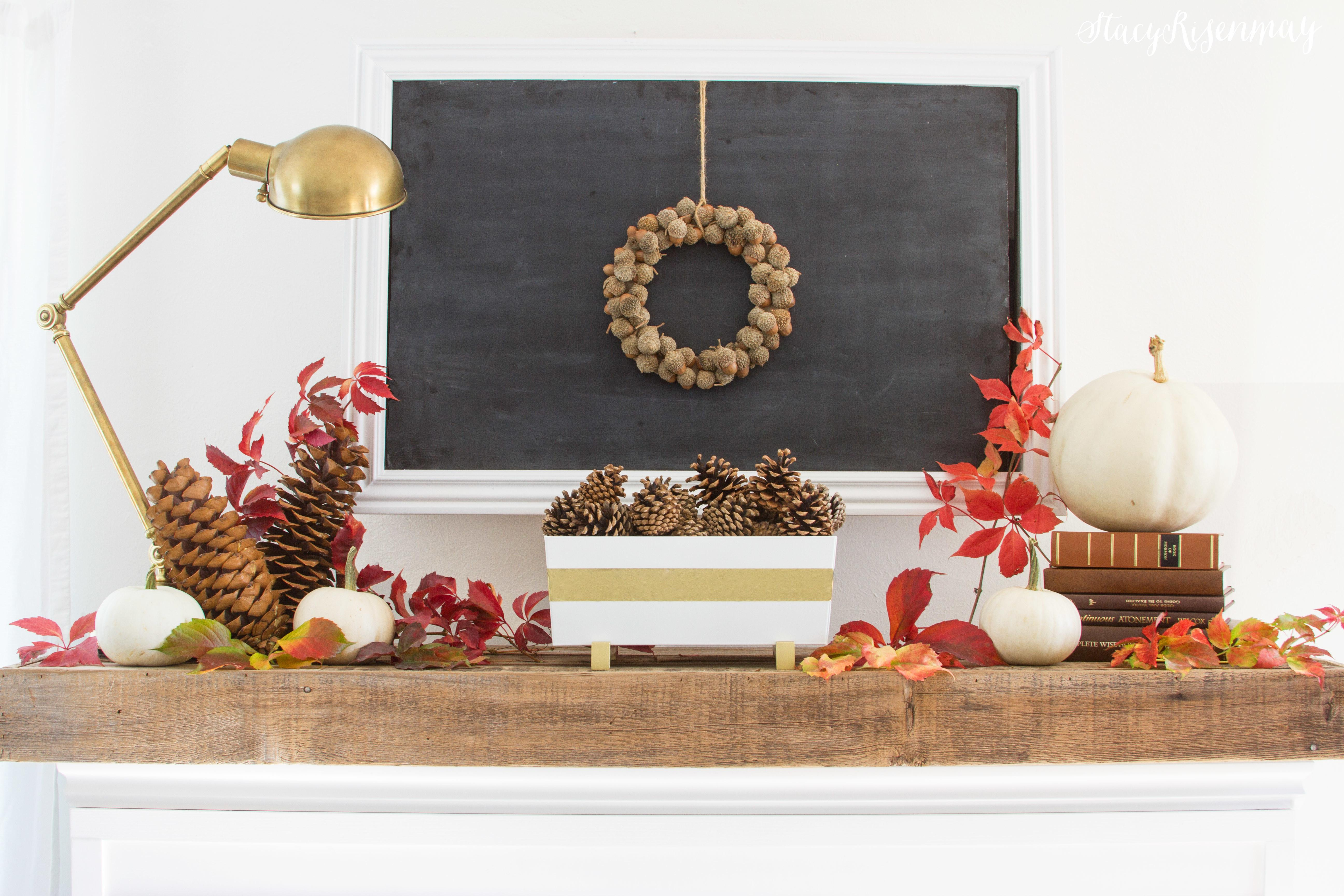 Fall Mantel Styled Stacy Risenmay