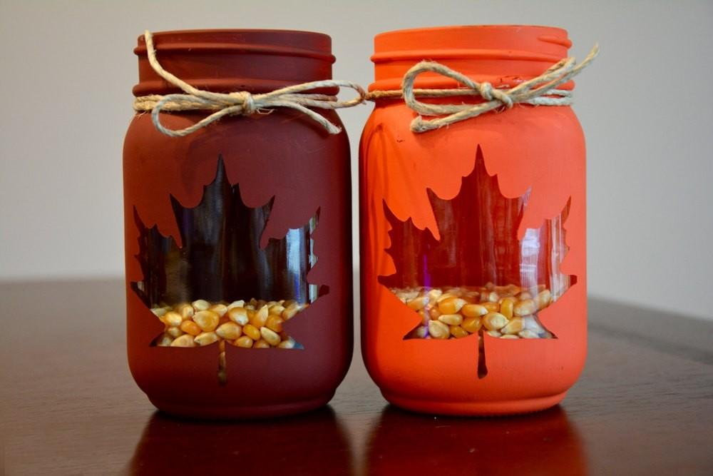 Fall Mason Jars Craftshady