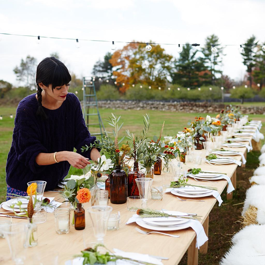 Fall Party Table Decoration Ideas Outdoor Homemade