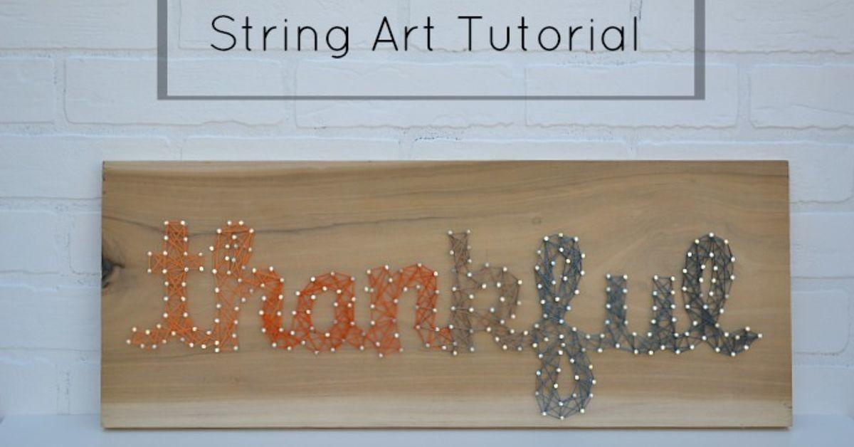 Fall String Art Sign Hometalk