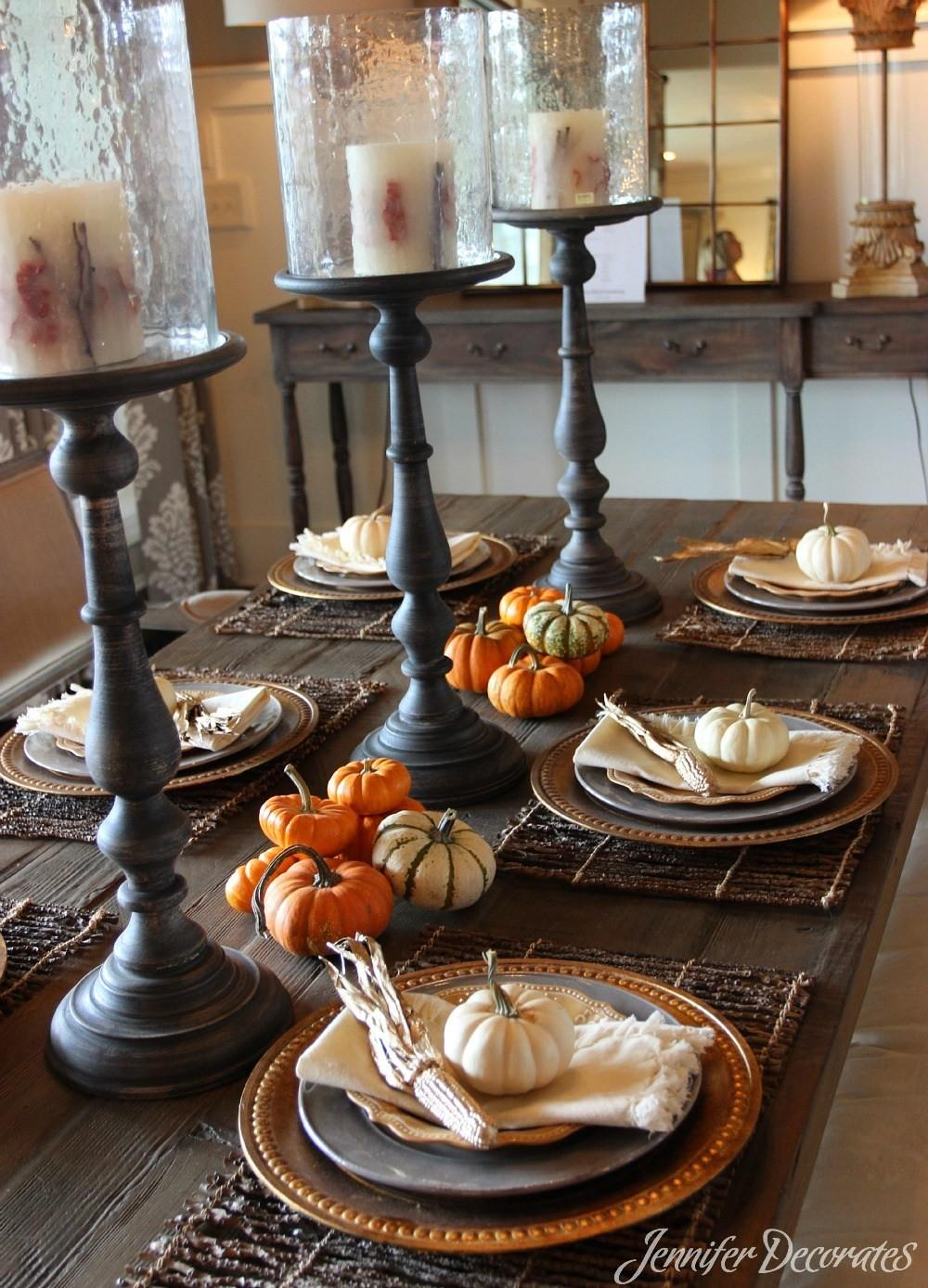 Fall Table Decorations Easy Affordable