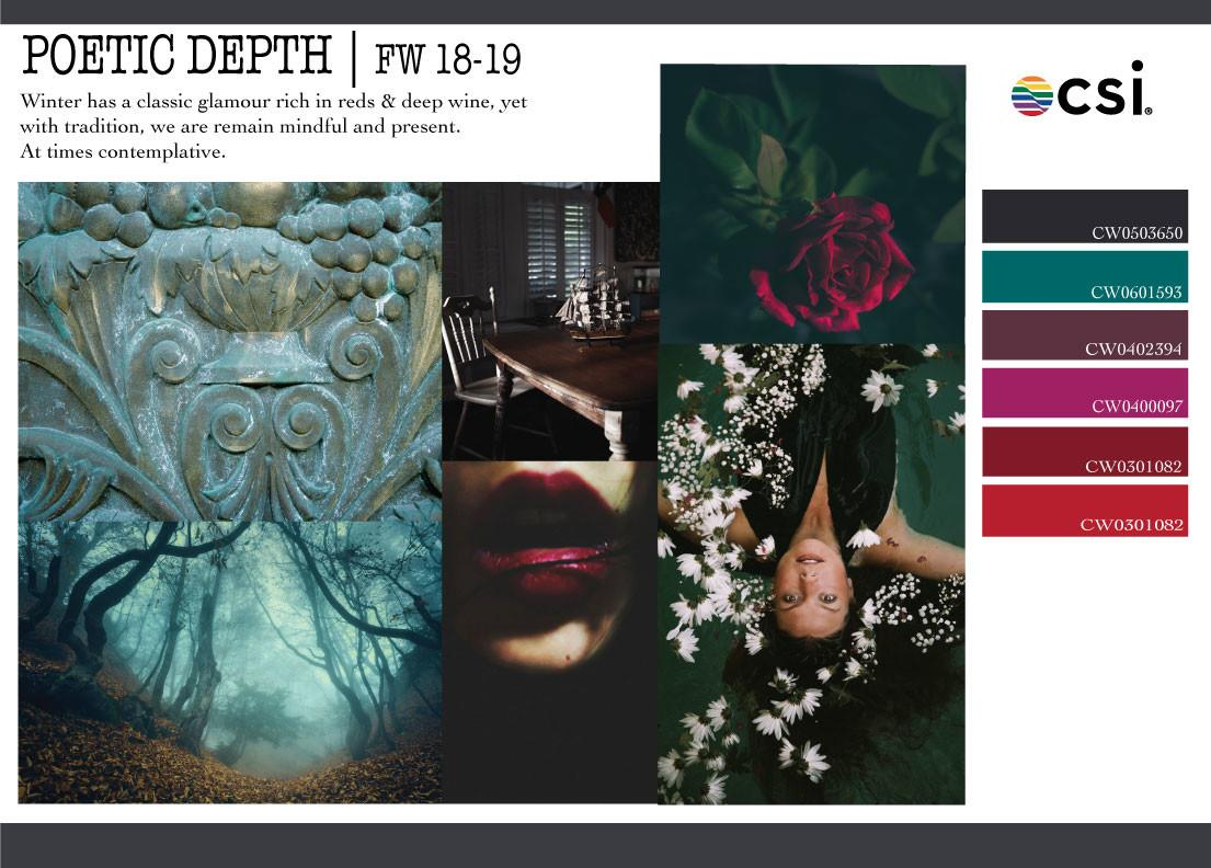 Fall Winter 2018 2019 Color Analysis Poetic Depth